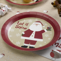 Let It Snow - Father Christmas Paper Plates (8)